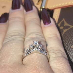 Other - 1 ct diamond wedding set in white gold setting